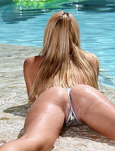 Natalia Starr Silver Bikini