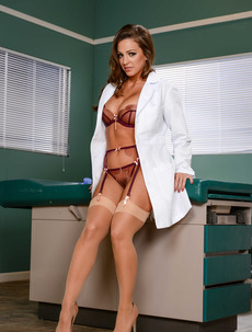 Busty Doctor Abigail Mac Strips In The Hospital