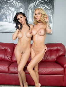 Heather Vahn And Sarah Jessie Dildoing Each Other