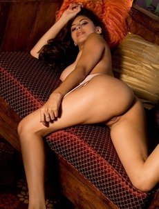 Nina North In High Heels But Nude On Couch
