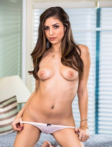 Brunette Cutie Nina North Strips And Spreads