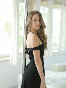 Beautiful Kimmy Granger In Sexy Black Dress
