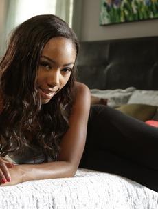 Sweet Ebony Babe Chanell Heart