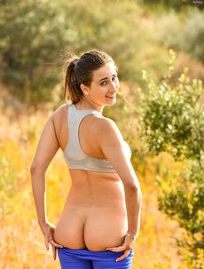 Ashley Flashing Cute Ass