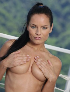 Kari Strips Off Bikini On The Balcony