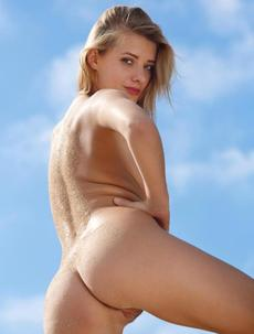 Naked On Hot Sand