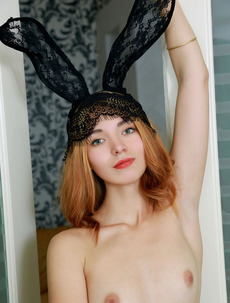 Sexy Bunny Adele Shaw Slips Out Of Her Stockings