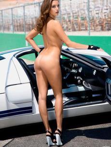 Alyssa Arce Gets Get Big Boobs At The Racetrack