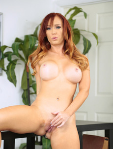 Busty Dani Jensen Strips And Spreads Her Pussy