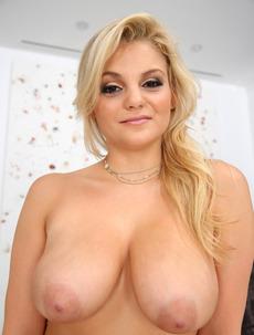 Busty Blonde Babe Katya Jayne Undressing