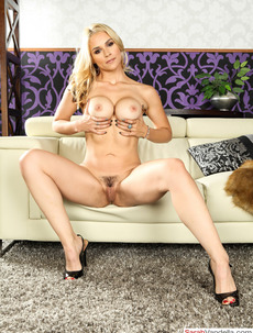 Sarah Vandella Shows Her Hairy Pussy