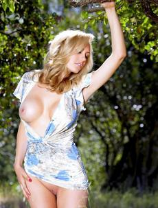 Brett Rossi Shows Off Her Big Boobs Outdoors