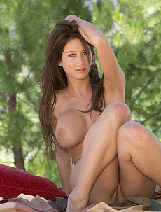 Emily Addison Relaxes Outdoor