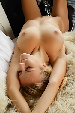 Aislin Spreading On The Bed