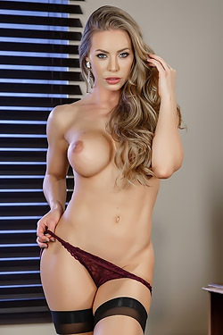 Nicole Aniston Strips In The Office