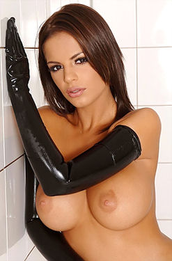 Black Angelica Latex Babe