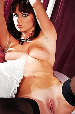 Black Haired Hottie Stripping