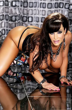 Lisa Ann Strips Off Her Black Lingerie