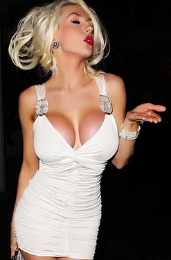 Courtney Stodden - Slutty White Dress
