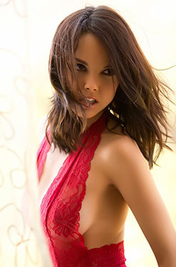 Dillion Harper In Her Tiny Red Dress