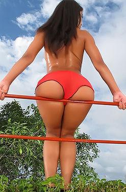 Ria Rodriguez In Red