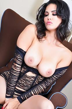 Sunny Leone In Fishnet