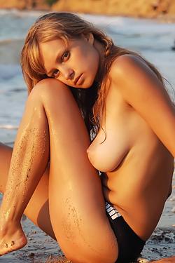 July Drops Bikini On The Shore