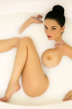 Eugenia Diordiychuk Takes A Milky Bath