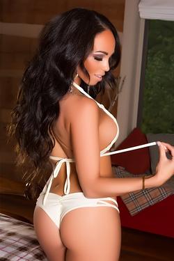 Shay Marie Taking Off White Bikini