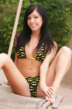 Catie Minx Stripping Batman Bikini