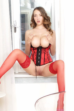 Buffy Masturbate In Red Corset