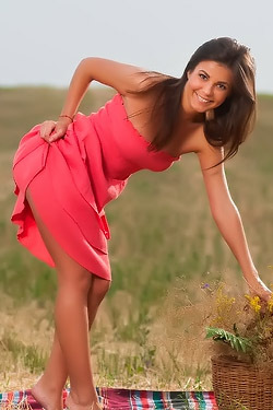 Arina Posing Naked Outdoors