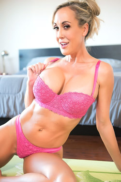Busty Mature Brandi Love Strips Off Her Sexy Pink Lingerie