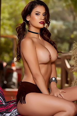 Vanessa Veracruz Strips In A Barn
