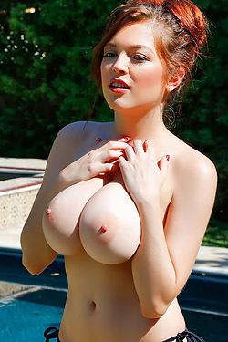 Tessa In Her Silver String Bikini