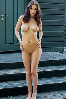 Evita Lima Naked On The Steps