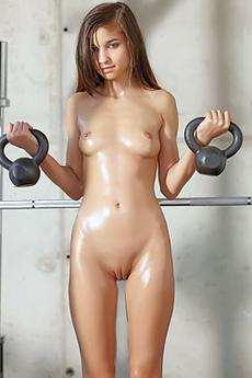 Cute Teen Nika And Her Shiny Body