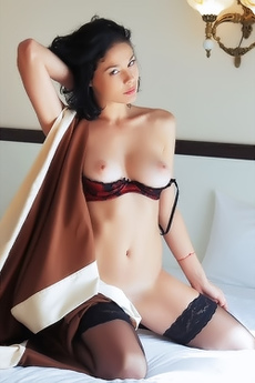 Callista Takes Her Sexy Lingerie Off