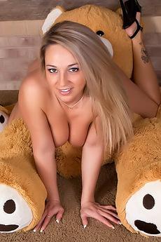 Nikki Sims With Her Teddy Bear