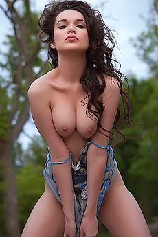 Busty Serena Wood Strips And Shows Us Her Perfect Body Outdoors